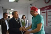 TIP DOKTORU - Başkan Çerçi Tıp Bayramında Sağlıkçıları Ziyaret Etti