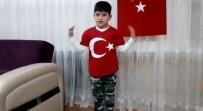 AHMET YıLMAZ - Okuma Yazma Bilmeyen Çocuk İstiklal Marşını Okudu, Afrin'e Selam Gönderdi
