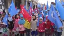 DOĞU TÜRKISTAN - Taksim'de Doğu Türkistan Protestosu