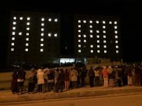 Yurt Binalarına Işıklarla 'Afrin' Yazdılar