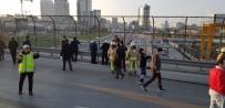 BENZIN - Basın Ekspres Yolu Üzerinde İntihar Girişimi... Yanmaktan Son Anda Kurtarıldı