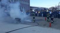 TATBIKAT - İtfaiye Ekipleri Yangın Tatbikatı Düzenledi