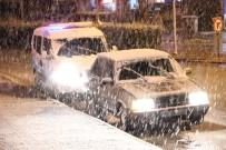 YAĞAN - Karaman'a Mart Ayında Lapa Lapa Kar Yağdı