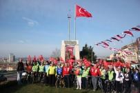 ÇANAKKALE DESTANI - Yüzlerce Bisikletli Çanakkale Yolunda