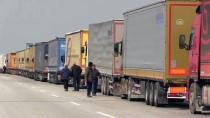 HAMZABEYLI - Avrupa'ya Açılan Sınır Kapılarında Tır Kuyruğu