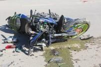 MOTOSİKLET SÜRÜCÜSÜ - Elazığ'da Trafik Kazası Açıklaması 1 Ağır Yaralı