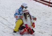 DOLULUK ORANI - Palandöken'de Kayak Keyfi Mart Ayında Da Devam Ediyor