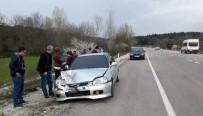 Takla Atan Otomobil Alev Aldı, Facianın Eşiğinden Dönüldü
