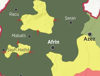 Afrin'den kaçan YPG/PKK'lılar nerede?