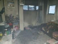 YÜKSELEN - Alanya'da Ev Yangını Paniğe Neden Oldu