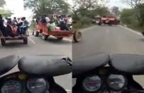 Traktörlerin Yarışı Kötü Bitti Açıklaması 7 Yaralı