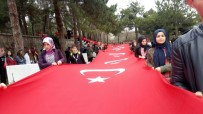 ŞEHİTLER GÜNÜ - Zaferin 103. Yılına 103 Metre Uzunluğunda Türk Bayrağı