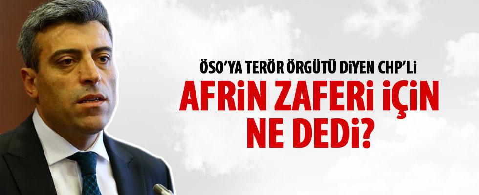 CHP Genel Başkan Yardımcısı Yılmaz'dan Afrin açıklaması