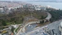 KARAYOLLARI - Dolmabahçe-Levazım Arasını 5 Dakikaya Düşürecek Tünel Çalışmaları Havadan Görüntülendi