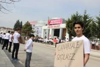 ÖĞRENCİLER - Düzce Kültür Fen Lisesi Öğrencileri Çanakkale Ruhunu Sokağa Yansıttı