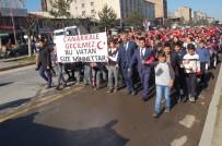 HÜKÜMET KONAĞI - Güroymak'ta 'Şehitlere Saygı' Yürüyüşü