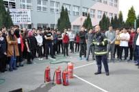 YANGIN TATBİKATI - İtfaiye Müdürlüğü'nden Yangın Tatbikatı