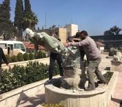 Afrin Operasyonu - Kawa heykelleri bir bir yıkılıyor