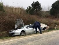 İLK MÜDAHALE - Kaza Yapan Otomobiller Kanala Uçtu