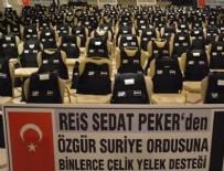 SEDAT PEKER - Sedat Peker, ÖSO'ya çelik yelek gönderdi