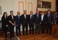 TÜRKIYE SPOR YAZARLARı DERNEĞI - TSYD Bursa Şubesi'nden Alinur Aktaş'a Ziyaret