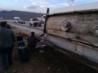 Yakıt Dolu Tanker Devrildi Açıklaması 1 Yaralı