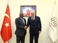 KONGO CUMHURİYETİ - Kongo Cumhuriyeti Büyükelçisi ATO Başkanı Baran'ı Ziyaret Etti