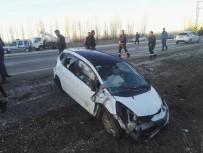 BADEMLI - Konya'da Otomobil Takla Attı Açıklaması 1 Ölü