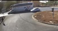 HATALI DÖNÜŞ - Mardin'de Otobüs Aracı Biçti