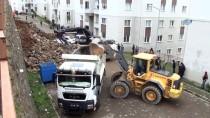 ORTAHISAR - Trabzon'da İstinat Duvarı Çöktü