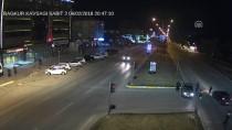 ÇARPMA ANI - Trafik Kazaları MOBESE Kameralarınca Görüntülendi