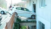 NURTEPE - Kadın Sürücü Apartmana Daldı