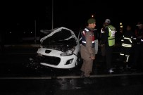 DİREKSİYON - Kazadan Sonra Sürücü Buhar Oldu