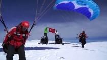 MEHMED ALI SARAOĞLU - Murat Dağı'nda Kayaklı Yamaç Paraşütü Yaptılar