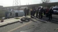 HAFRİYAT KAMYONU - Yolcu Minibüsü Kaza Yaptı Açıklaması 15 Yaralı