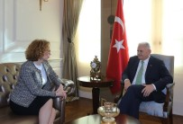 MAKEDONYA CUMHURİYETİ - Başbakan Yıldırım Makedonya Savunma Bakanı Shekerinska'yı Kabul Etti