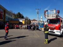 TATBIKAT - Kışla Mahmut Likoğlu Ortaokulunda Yangın Tatbikatı