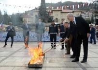 KÜLTÜR BAŞKENTİ - Nevruz Ateşi, Türk Dünyası Kültür Başkenti Kastamonu'dan Yakıldı