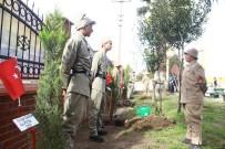 İSTIKLAL MARŞı - Öğrenciler, Afrin'de Şehit Düşen 46 Mehmetçik İçin 46 Fidan Diktiler