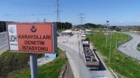 TONAJ - (Özel) Hafriyat Kamyonlarına Yönelik Sıkı Denetim Havadan Görüntülendi