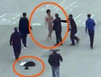 Yozgat'ta meydanda soyunan psikolojik sorunlu gence linç girişimi