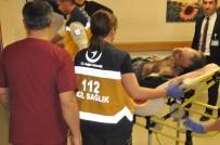 MOBİLYA - Yüksek Gerilime Kapılan İşçi Ağır Yaralandı