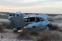 Aksaray'da Otomobil Şarampole Düştü Açıklaması 2 Yaralı