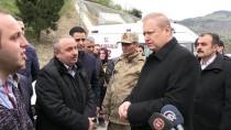 BAŞSAĞLIĞI - GÜNCELLEME 3 - Trabzon'da Polis Aracı Dereye Devrildi