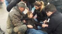 YARALI KADIN - Otomobil Yolun Karşısına Geçmeye Çalışan Kadına Çarptı