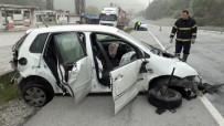 Zonguldak'ta Araç Takla Attı Açıklaması 4 Yaralı