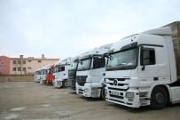 Kızıltepe'de Tırlar Garajda Kald