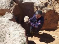 NEVŞEHİR BELEDİYESİ - Selin Oluşturduğu Yarığın İçinde Kalan Köpek Kurtarıldı