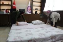 NEVRUZ BAYRAMı - Makam Odasına Yatak Serip Turistleri Ağırlıyor