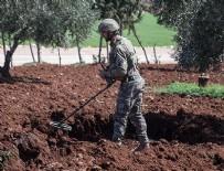 AFRİN OPERASYONU - Afrin'de 95 patlayıcı imha edildi
